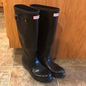 Women's Tall Glossy Hunter Rain Boots